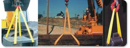 Một số ứng dụng nâng hạ cảu dây cáp vải cẩu hàng bản dẹp (webbing sling)