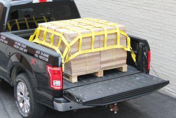Lưới trùm hàng thùng xe bán tải 150x140cm ô 15cm