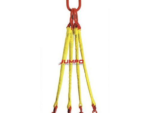 Cáp vải cẩu hàng 4 chân bản tròn - 4 Leg round sling